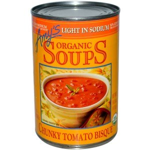 Organic Chunky Tomato Bisque - Amy's, Organic Soups, Chunky Tomato Bisque, Light in Sodium, 14.5 oz (411 g)(Pack of 2)