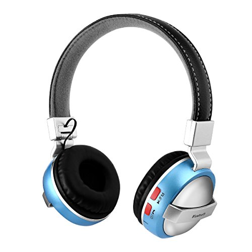 Price comparison product image BTH-868 Stereo Sound Quality Bluetooth 4.2 Foldable Wireless Headphone for Phone Computer Heavy Bass Sound Headset With Mic Support 3.5mm Audio Input & FM(blue)