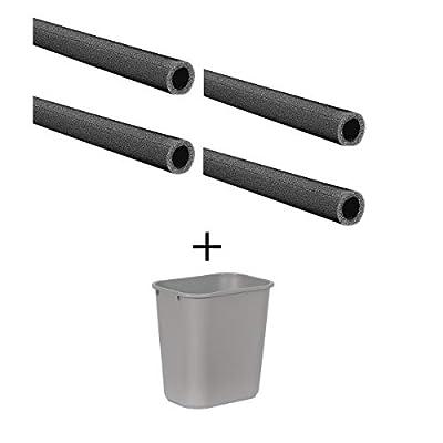 "2-5/8"" x 6 ft. Polyethylene Pipe Insulation, 3/8"" Wall"
