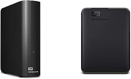 【セット買い】WD HDD 外付けハードディスク 8TB Elements Desktop USB3.0 WDBBKG0080HBK-JESN/2年保証 & HDD ポータブルハードディスク 4TB WD Elements Portable WDBU6Y0040BBK-WESN USB3.0/2年保証