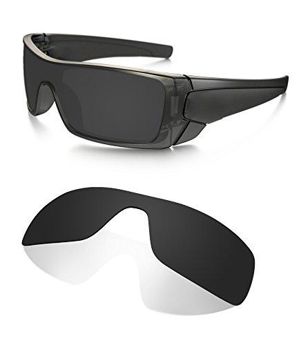 Littlebird4 1.5mm Polarized Replacement Lenses for Oakley Batwolf Sunglasses (Dark ()