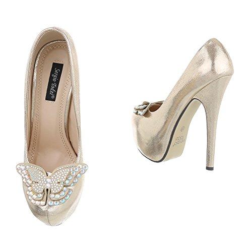design Femme Ital Compensées Or Chaussures qz0Rw0ZC