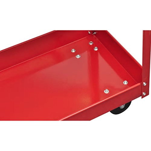 vidaXL Rolling 2 Tray Utility Cart Dolly 220lbs Storage Shelves Workshop Garage Tool by vidaXL (Image #4)