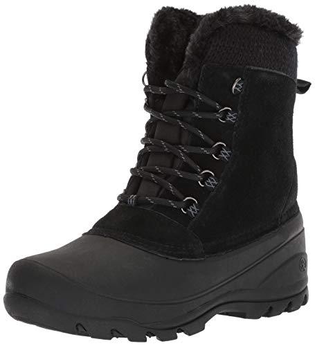 Northside Ferndale - Botas de Nieve para Mujer, Negro/Carbón, 6 M US