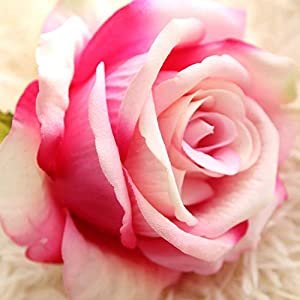 narutosak Artificial Flowers 1Pc Real Touch Rose Fake Flower Wedding Bouquet Party Home Decor - Rose Red 15
