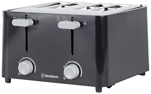 black 4 slice toaster - 6