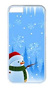 MOKSHOP Adorable christmas 2 Hard Case Protective Shell Cell Phone Cover For Apple Iphone 6 Plus (5.5 Inch) - PC White