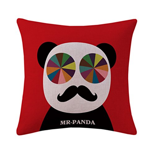 Mrsrui Throw Pillow Covers Cases Decorative Pillowcases Home Car Decorative Cotton Linen Soft and Cozy 18x18 inch (E) by Mrsrui