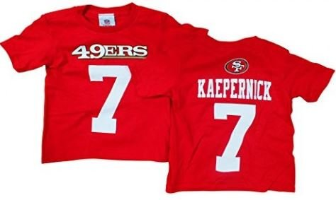25fec188e Amazon.com : Outerstuff Colin Kaepernick San Francisco 49ers Toddler Red  Mainliner Jersey Name and Number T-shirt 4T : Sports & Outdoors