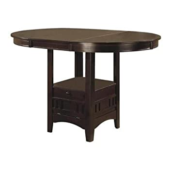 Superior Amazon.com   Coaster Counter Height Dining Table Extension Leaf Dark  Cappuccino Finish   Tables