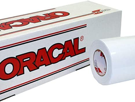 Amazon Com 24 X 10 Ft Roll Of Oracal Vinyl For Craft Cutters And Vinyl Sign Cutters White 100 Feet Arts Crafts Sewing