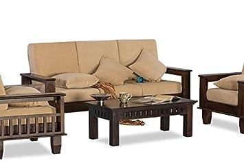 Furniture World Sheesham Wood 5 Seater Sofa Set 3 1 1 For Living