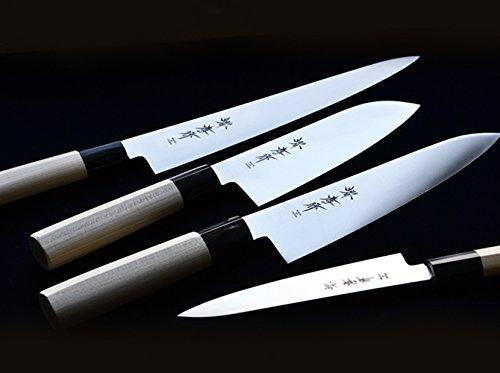Sakai Takayuki/INOX Molybdenum Steel ,Japanese Style Chef's Santoku Knife 170mm/6.7''