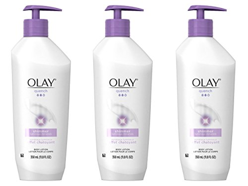 OLAY Quench Shimmer Body Lotion Pump 11.80 oz ( Pack of 3)