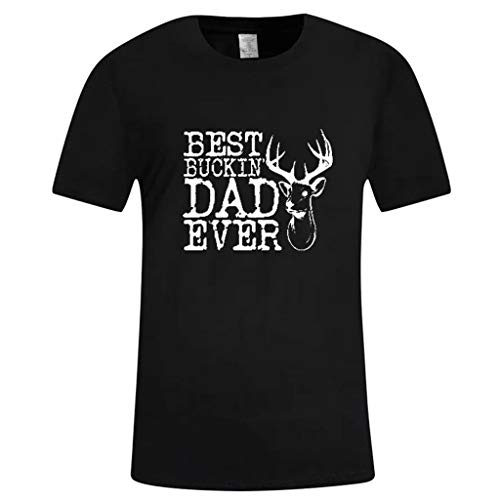 (Nadition Father's Day T-Shirt  Men's ''Best Dad Ever'' Printed Short Sleeve Summer Shirts Gift for Dad Tee Shirts)