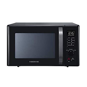 Image of Farberware Black FMO10AHDBKC 1.0 Cu. Ft. 1000-Watt Microwave Oven with Healthy Air Fry, Grill/Convection Function, ECO Mode and LED lighting, Black Stainless Steel Home and Kitchen