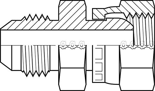 Adaptall 9022-04-L06-12 Series 9022 Carbon Steel Straight Swivel Adapter, 7/16