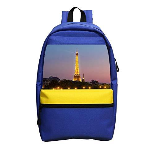 Shining Eiffel Tower La Tour Eiffel School Backpack for Girls Boys Students School Handbag