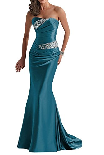 Snowskite Womens Elegant Mermaid Sweetheart Evening Party Bridesmaid Dress Teal 10 by Snowskite