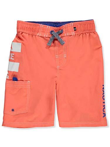 - Nautica Boys' Swim Trunk with UPF 50+ Sun Protection, Anchor Hibiscus, Medium (10/12)