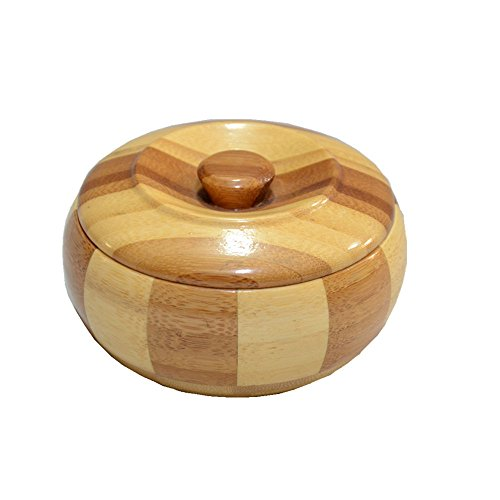(Zaoniy Wooden Ashtray with Lid,Ash Holder for Smokers, Desktop Smoking Ash Tray for Home Office Decoration(Lid)(Q1))