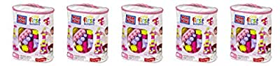 Mega Bloks KnnTgt 80 Piece Big Building Bag, Classic, Pink, 5 Units