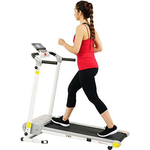 Sunny Health & Fitness Easy Assembly Motorized Walking Treadmill, White by Sunny Health & Fitness