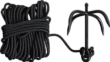 Kombat - Cuerda con gancho para escalar: Amazon.es: Deportes ...