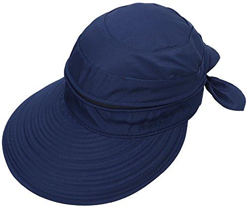 Simplicity Women's UPF 50+ UV Sun Protective Convertible Beach Hat Dark Blue