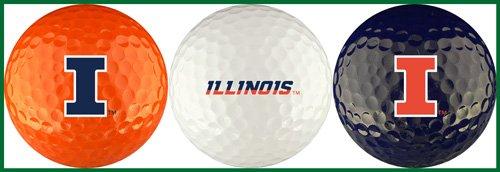 EnjoyLife Inc University of Illinois Golf Ball Gift Set