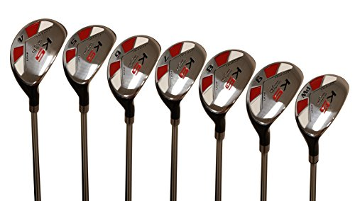 Majek Men's Golf All Hybrid Complete Full Set, which Includes: #4, 5, 6, 7, 8, 9, PW Senior Flex Right Handed New Utility