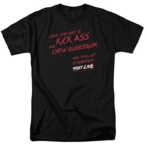 They Live Chew Bubblegum T-shirt, Black, -