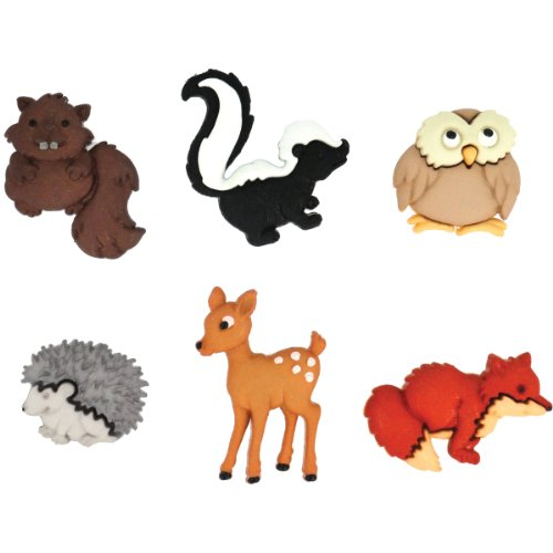 Dress It Up Buttons Animal Collection #6547 Forest Babies 6547-1P (Forest Animal Craft)