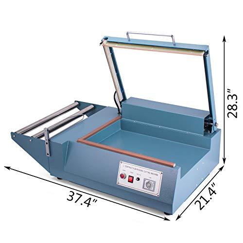 Mophorn FQL-380L L-Bar Sealer 800W L-Bar Shrink Wrap Sealer Cutting Size 20 x 13.8 Inch L-Bar Sealer Machine for Home Commercial Use by Mophorn (Image #2)