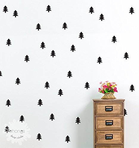Pine Tree Wall Decal / Christmas Tree Sticker / Holiday decoration / Kids wall decoration / Home Decor / Modern Wall Decal / gift