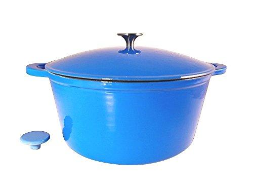 Le Chef Enamel Cast Iron Blue Round Dutch Oven 10-qt. by Le Chef