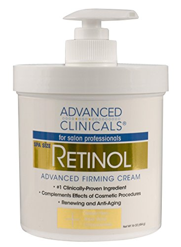 Advanced Clinicals Retinol Cream. Spa Size for Salon Professionals. Moisturizing Formula Penetrates Skin to Erase the Appearance of Fine Lines & Wrinkles. Fragrance Free. 16oz