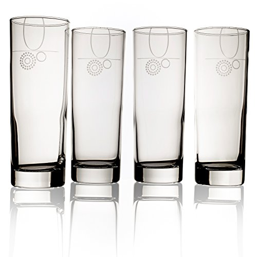 Livliga Aveq Portion Control Drinking Glass with Etched Fill Lines, Set of ()