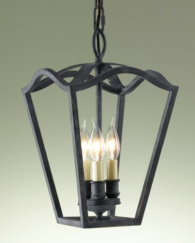 (Murray Feiss F2324/3AF Kings Table 3 Light Hall, Antique Forged Iron)