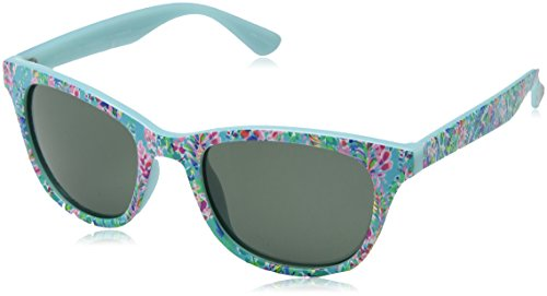 (Lilly Pulitzer Women's Maddie Polarized Square Sunglasses, CATCH THE WAVE, 52)