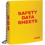 GEMPLER'S 222427 Heavy Duty GHS Compliance Binder Only for Safety Data Sheets, Bilingual English/Spanish, 1-1/2'' Binder for up to 300 Pages, 8-1/2'' x 11, Safety Yellow