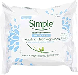 Simple Water Boost Cleansing Facial Wipes, 25 pcs
