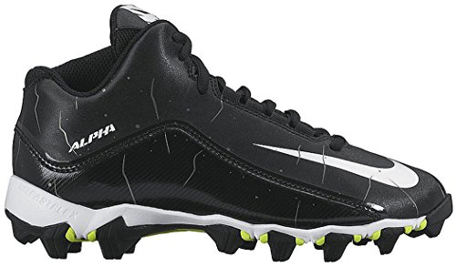 NIKE Men's Alpha Shark 2 Three-Quarter Wide Football Cleat Black perfect EgsRv