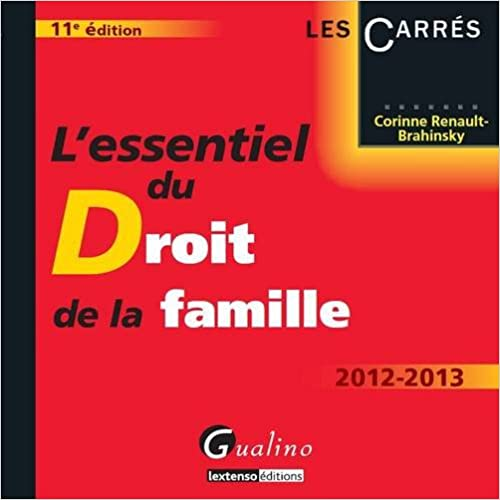 Lire en ligne L'essentiel du Droit de la famille 2012-2013 pdf ebook