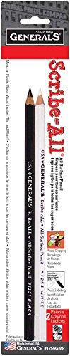 Professional Labeling - Scribe-All Pencils 2/Pkg, Black & White