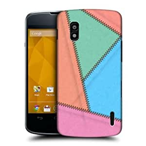 Viesrod Head Case Bubble Gum Leather Patched Up Hard Back Case Cover For Lg Nexus 4 E960