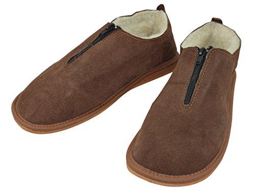 Pantofole da donna vera pelle naturale con fodera in lana