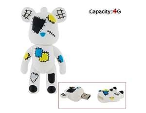 4GB Gloomy Bear USB Flash Drive (White)