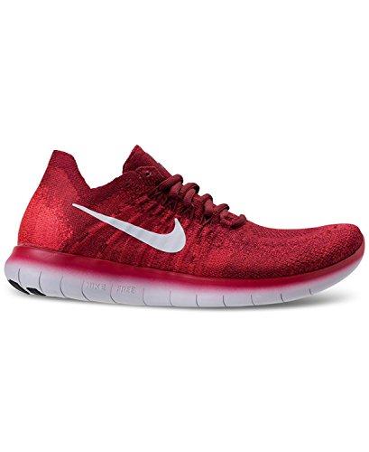 Nike Free RN Flyknit 2017, Zapatillas de Trail Running Para Hombre, Rojo (Team Red/Pure Platinum/University Red 600), 44.5 EU