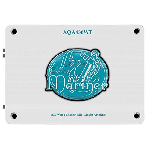 Lanzar AQA430WT 1,600-Watt 4-Channel Mini Mosfet Marine Amplifier